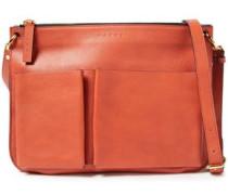Woman Textured-leather Shoulder Bag Brick