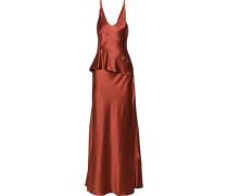 Silk-charmeuse peplum gown