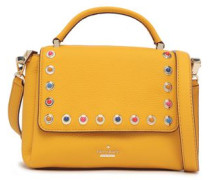 Madeline Devoe Street Embellished Textured-leather Shoulder Bag Saffron Size --