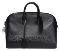 Leather Tote Black Size --