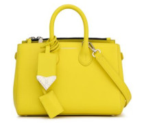 Leather Tote Bright Yellow Size --