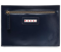 Woman Leather Pouch Midnight Blue