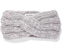 Lula Marled Metallic Wool-blend Headband Light Gray Size --