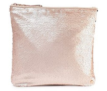 Sequined Satin Pouch Antique Rose Size --