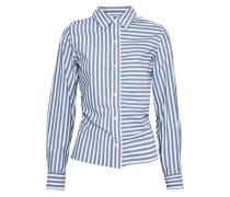 The Des Tie-back Striped Cotton-poplin Shirt Azure Size 1