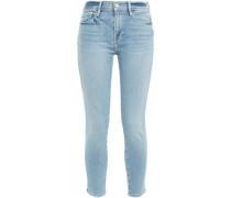 Cropped Low-rise Skinny Jeans Light Denim  3