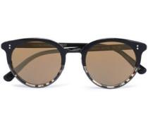 Round-frame Tortoiseshell Acetate Sunglasses Black Size --