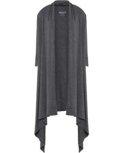 Draped mélange stretch-modal jersey robe