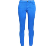 Cropped High-rise Skinny Jeans Azure  5