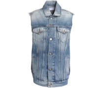 Faded denim vest