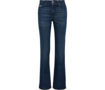 High-rise Straight-leg Jeans Dark Denim  4