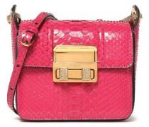 Embellished python shoulder bag