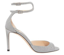 Lane 85 Glittered Leather Sandals Silver