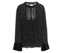Embellished Georgette Blouse Black