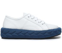 Woman Leather Sneakers White