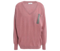 Bead-embellished Cashmere Sweater Antique Rose