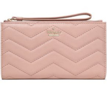Quilted Leather Wallet Blush Size --