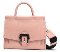 Cracked-leather Shoulder Bag Blush Size --