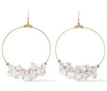 Gold-tone Bead Hoop Earrings Gold Size --