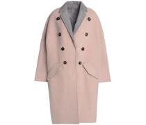 Reversible button-embellished cashmere coat