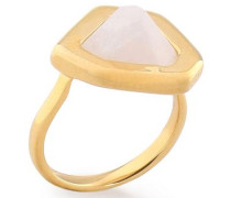 Petra 18-karat gold vermeil moonstone ring