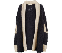 Two-tone knitted cardigan