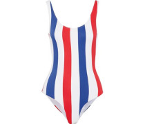 Kelly Striped Swimsuit White