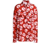 Tie-dyed silk crepe de chine shirt