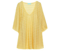 Crochet-knit kaftan