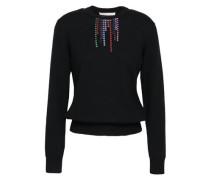 Crystal-embellished Wool Sweater Black
