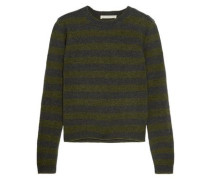 Striped Wool Sweater Army Green