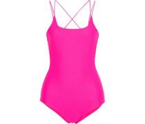 Kilauea Neon Cutout Swimsuit Bright Pink