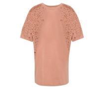 Woman Burnout Stretch-jersey T-shirt Antique Rose