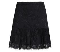 Pleated lace mini skirt