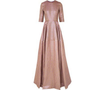 Metallic Jacquard Gown Lavender
