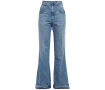 Woman High-rise Flared Jeans Mid Denim