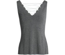 Contretemps lace-up stretch-jersey top
