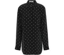 Polka-dot Silk Shirt White Size 0