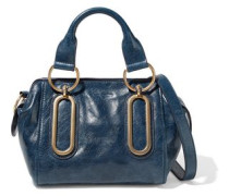 Paige Small Washed-leather Shoulder Bag Storm Blue Size --