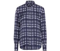 Checked silk-twill shirt