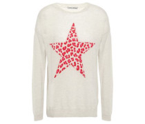 Intarsia Cashmere Sweater Off-white