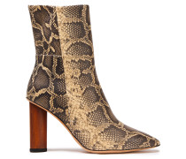 Spokane Snake-effect Leather Ankle Boots