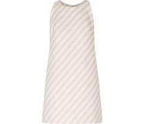 Striped cotton-blend faille mini dress