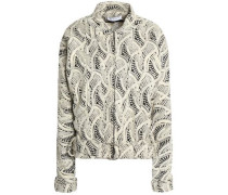 Embroidered woven jacket