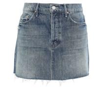Distressed Denim Mini Skirt Mid Denim  7
