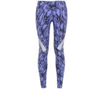 Paneled Stretch Leggings Lavender