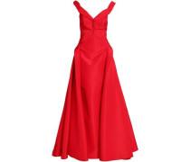Off-the-shoulder silk-taffeta gown