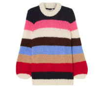Woman Julliard Striped Wool And Mohair-blend Sweater Multicolor