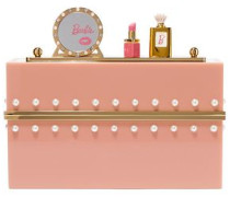 Embellished Perspex Clutch Blush Size --