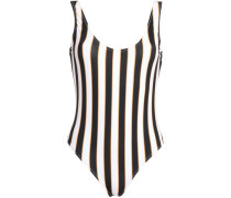 Striped Swimsuit White